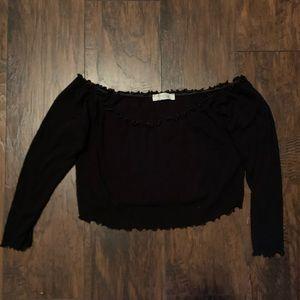 Plus Size Black Crop Top